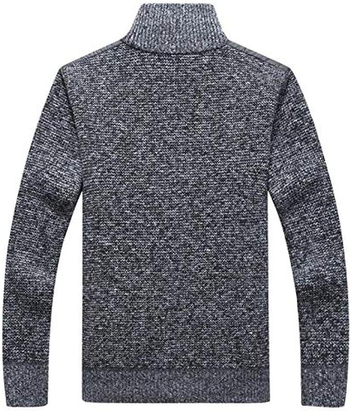 Męskie Pullover Winter Warm Fleece Strickpullover Herbst Jacken Cardigan Mäntel Männlich: Odzież