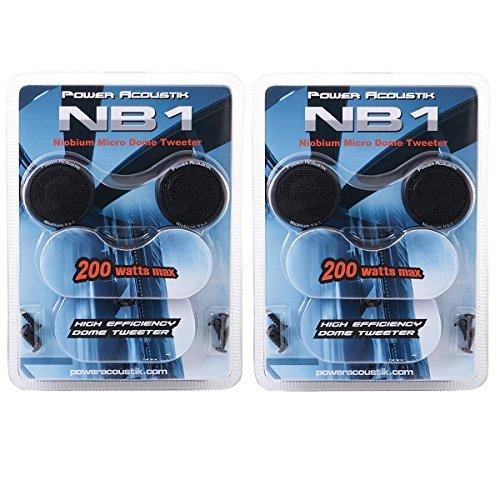 LOT OF 2 Power Acoustic NB1 200 watt Dome Car Audio Tweeters