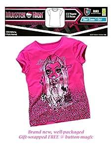 Monster High globalpowder vinsani Hiperopía Remera/oficial superior - Monster High mercadería * 65% poliéster 25% Viscose Rosa rosa Size 5-6 Years