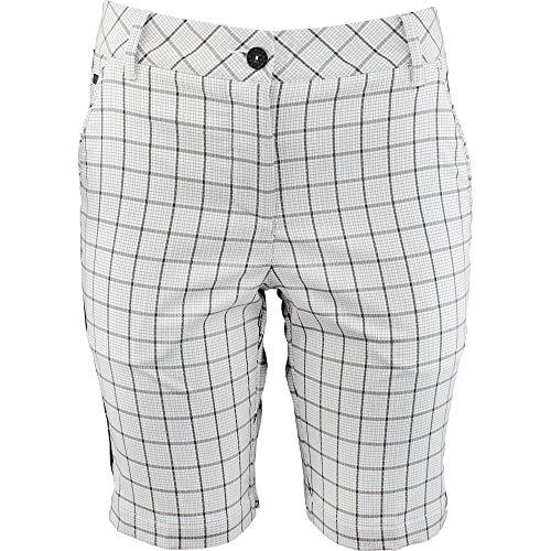 Puma Golf Women's Us Pattern Tech Bermuda Shorts, White/Black, -