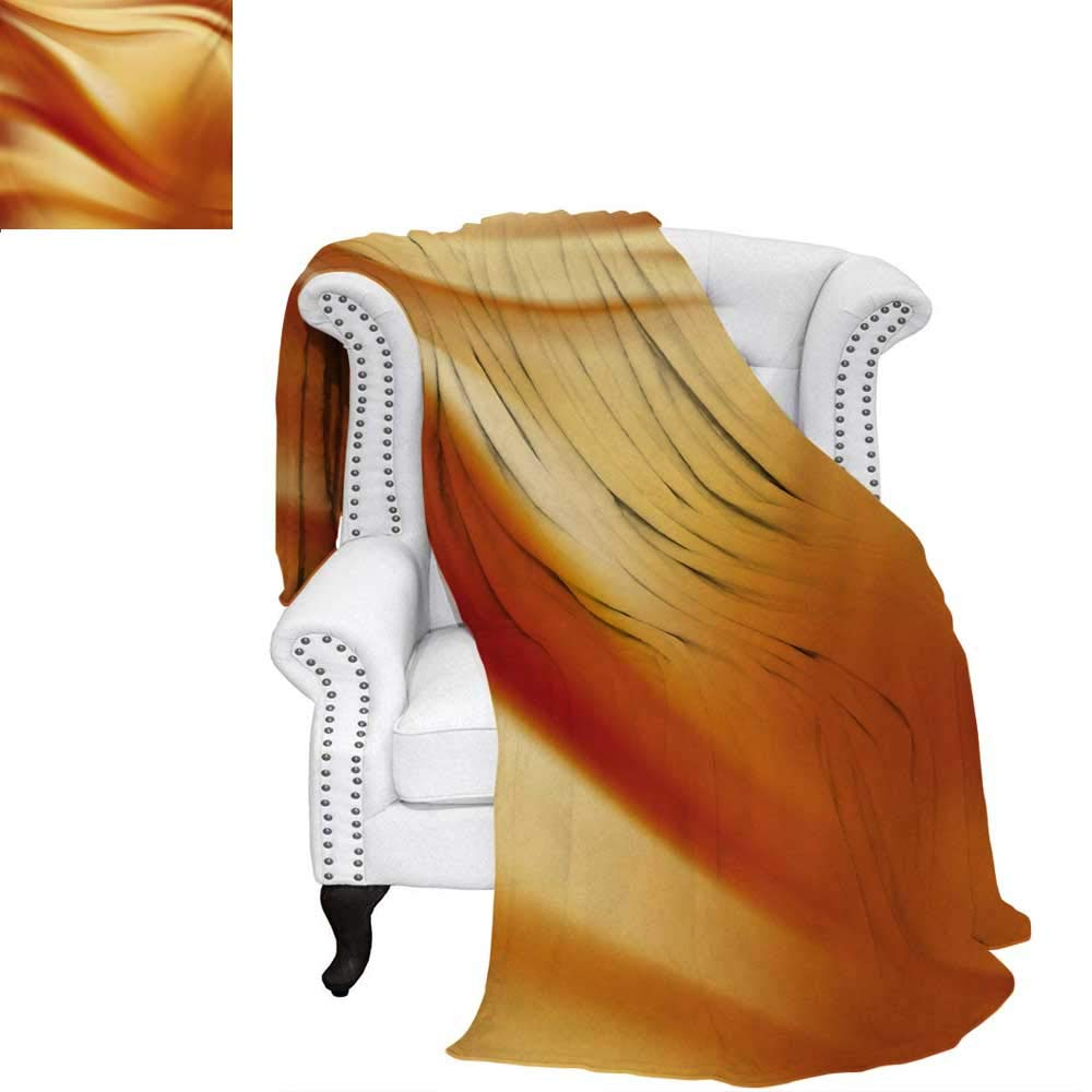 (ウォーマーファミリー) warmfamily オレンジとピンクベルベットのプラッシュスローブランケット 縦縞 パステルカラー 幾何学バナー 抽象デザイン スローブランケット ペール オレンジピンク 62