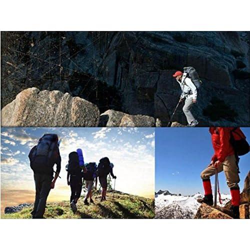 LQABW Une Paire De 67-135cm Extérieur Ultra Léger En Aluminium Trois Sections Alpinisme Randonnée Sticks Anti-choc Alpenstocks