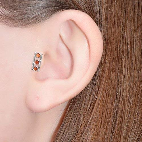 Cartilage Hoop Nose Stud Conch Piercing 20g Gold Nose Piercing Tragus Jewelry 3mm Pearl Nose Ring Stud Helix Earring Stud