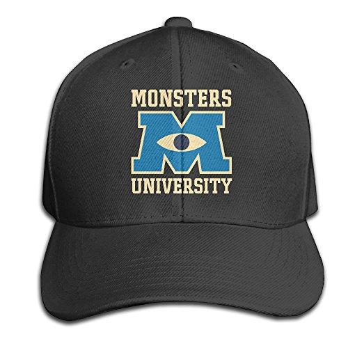 [Monsters University Adjustable Black Baseball Cap Hats] (Monsters University Hat)