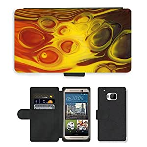 Hot Style Cell Phone Card Slot PU Leather Wallet Case // M00151802 Color Glass Fusingglas Macro // HTC One M9