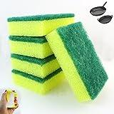 100 Lot Kitchen Sponges Scrubber Bathroom Tiles Scourer Clean Dishes Shower Pans
