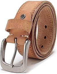 "Men's Full Grain 1 1/2"" Italian Leather Belt with Anti-nickel Buckle … …"