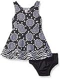 Kensie Baby Knit Skater Dress, Black, 12 Months