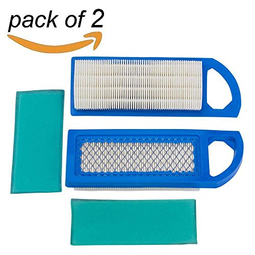 - HEYZLASS 2Pack 698083 697153 Air & Foam Pre Filter Cartridge, for Briggs & Stratton Engine Lawn Mower, for John Deere GY20573 Craftsman Air Cleaner and More