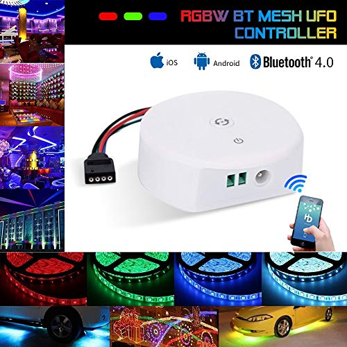 Topled Light Bluetooth LED Strip Light Controller, Waterproof Flexible RGB Strip Light Rope Light Kit Controller, for iOS/Android App Controlled and Festival Decoration (Bluetooth Controller)