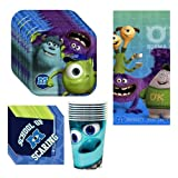 DisneyÆs Monsters University Party Supplies Pack Including Plates. Cups. Napkins and Tablecover - 8 Guests