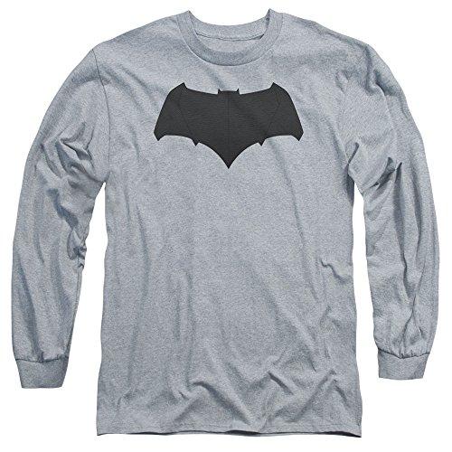 Trevco Men's V Superman Batman Logo Adult Long Sleeve T-Shirt at Gotham City Store