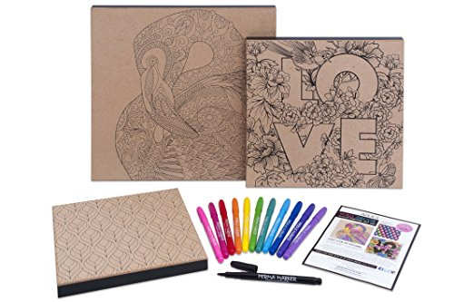 Art 101 3 Pack Wood Canvas Art Set