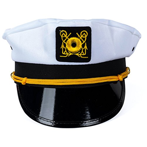5438710f6065c Funny Party Hats Yacht Captain Hat - 6 Pack - Sailor Hats - - Import It All