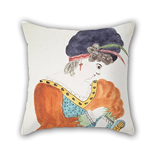 Oil Painting Mary Ann Willson - Young Woman Wearing A Turban Pillow Cases 18 X 18 Inches / 45 By 45 Cm Best Choice For Teens Girls Chair Bar Gril Friend Adults Sofa With Two Sides