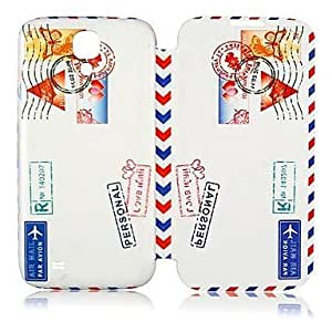 Postage Stamp Style Leather Full Body Case for Samsung Galaxy S4 I9500