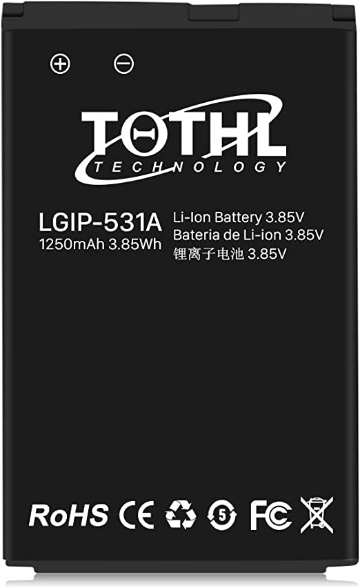 Amazon Com Lg Lgip 531a 1250mah Replacement Battery For Lg Feacher Flip Phones