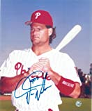 Darren Daulton Philadelphia Phillies Autographed 8x10 Photo -Bat- - 100% Authentic Autograph - Genuine MLB Signature - Perfect Sports Gift