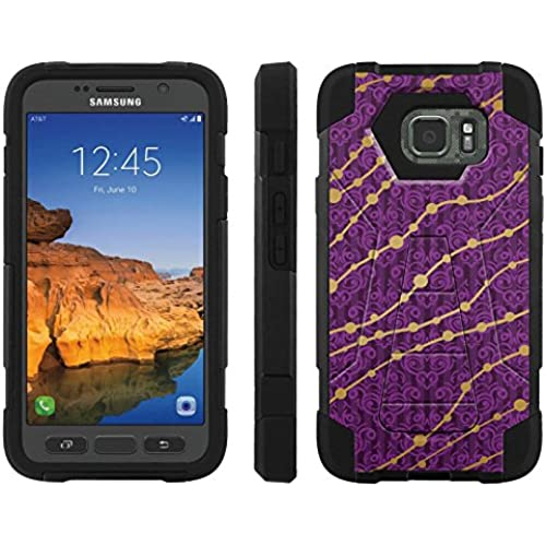 AT&T [Galaxy S7 Active] ShockProof Case [ArmorXtreme] [Black/Black] Hybrid Defender [Kickstand] - [Vintage Purple Gold] for Samsung Galaxy [S7 Active] Sales