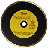 IVY Classic 38186 Diamond Plus 8-Inch Wet Tile Cutting Continuous Rim Diamond Blade with 5/8-Inch Arbor, 1/Card