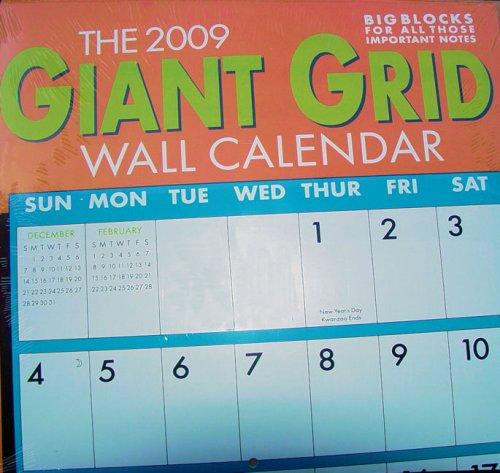 2009 Year Wall Calendar (2009 Giant Grid Wall Calendar)