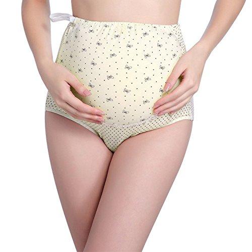 ETOSELL Women's Adjustable Maternity Panties High Cut Cotton Over Bump Underwear Briefs (Maternity Panties High Cut)