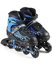 حذاء للتزلج قابل للتعديل لممارسة تمارين اللياقة البدنية في الداخل والخارج للسيدات والاولاد والبنات الصغار