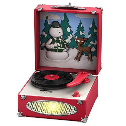 Hallmark Keepsake Christmas Ornament 2018 Year Dated, Rudolph the Red-Nosed Reindeer Record Player With Music and Light (Rudolph The Red Nosed Reindeer Music Box)