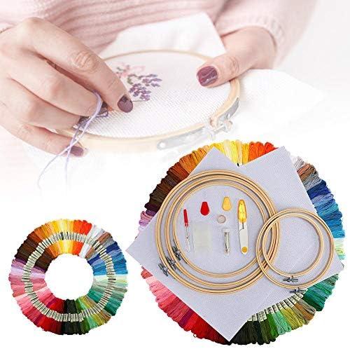 Beginners Cross Stitch Kits, DIY Hand Embroidery Kit Embroidery Pen Kit Embroidery Stitching Punch Tool voor DIY Sewing Cross Stitching