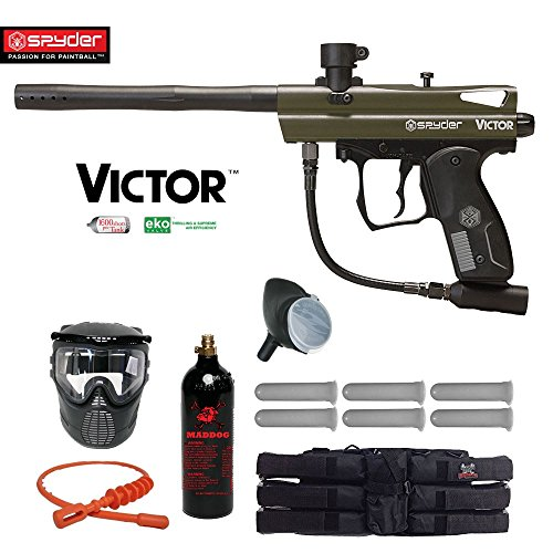 Spyder Victor Titanium Paintball Gun Package - Olive Green