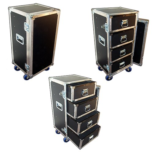 Drawer Workbox ATA Case - 3/8 Ply with 4 Drawers & Wheels - Small Size by Roadie Products, Inc. (Image #1)