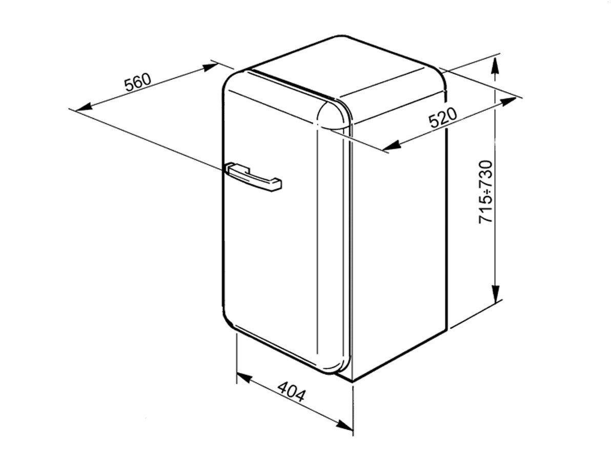 Smeg fab5rr1 autonome 32L D rot Kühlschrank - Kühlschränke (autonome ...