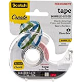 Scotch 002 1/2-Inch by 300-Inch Double Sided Photo and Document Tape