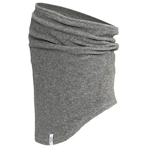 TrailHeads Micro Fleece Neck Warmer | Contoured Winter Neck Gaiter (Heather Grey)