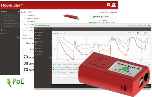 Room Alert 3E Temperature and Environment Monitor w/PoE by Room Alert