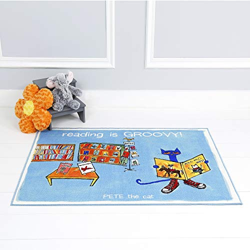 Home Dynamix Pete The Cat (Reading is Groovy) Non-Skid PELM06 Kid's Accent Rug 35.4