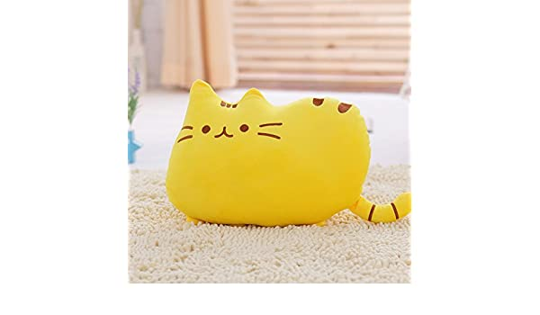 Amazon.com : Big Cat Emoji Throw Pillow Pet Sofa Decorative Cushion Soft Plush Toy Doll 15inches 1pc (Yellow) Color: Yellow, Model: P-232, ...