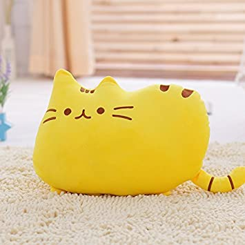 Big Cat Emoji Throw Pillow Pet Sofa Decorative Cushion Soft Plush Toy Doll 15inches 1pc (