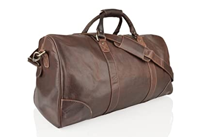 Image Unavailable. Image not available for. Colour  Woodland Leather Large  Weekend Travel ... 92bc1d8a9efe1