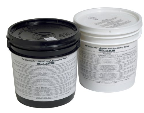 - PC Products PC-Concrete Epoxy Adhesive Paste for Anchoring and Crack Repair, Two-Part 102oz in Two Pails, Gray 71021