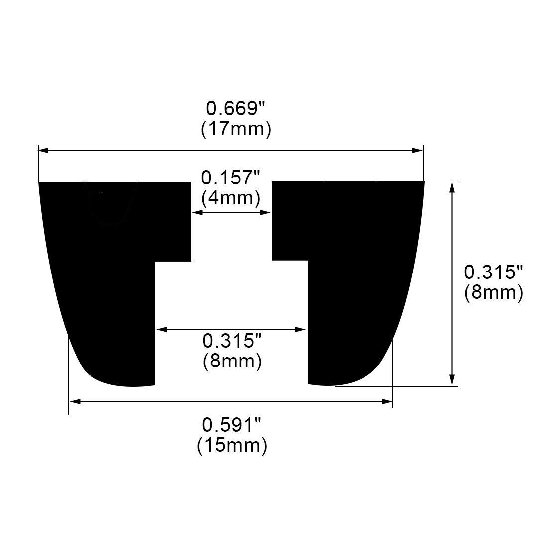 D17x15xH8mm uxcell 48pcs Rubber Feet Bumper Furniture Table Amplifier Speaker Cabinet Leg Pads Protector