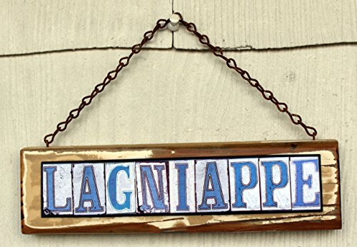 Lagniappe New Orleans Street Tile Sign by ScreenDoorArt