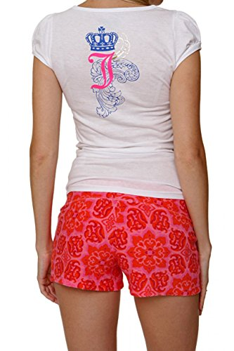 Juicy Couture Graphic Tee PUFF SS-MANORS PLEAS, Color: White, Size: L