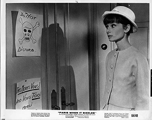 Audrey Hepburn Original 1964 8x10 Photo Paris When It Sizzles elegent fashion