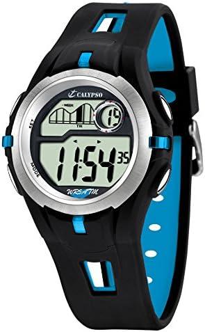 Calypso 5511/2 - Reloj de Caballero de Cuarzo, Correa de Goma Color (luz, cronómetro, Cuenta atrás, Alarma)