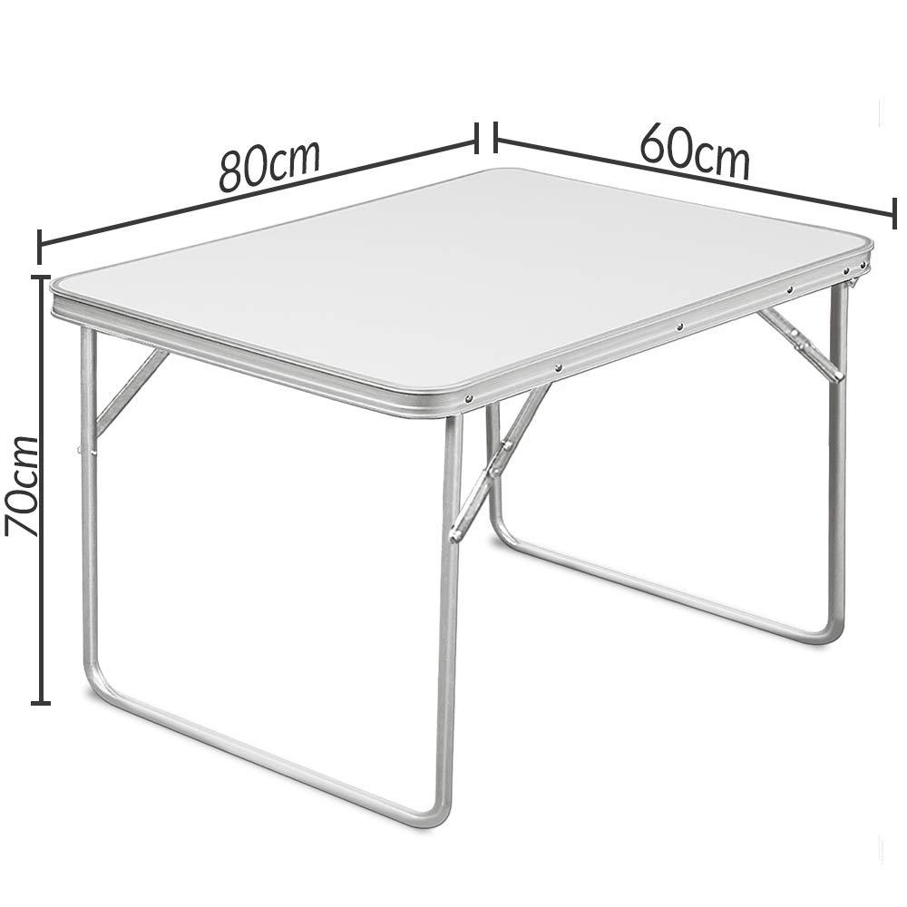 Deuba Mesa de camping plegable blanco de Aluminio mesa de ...