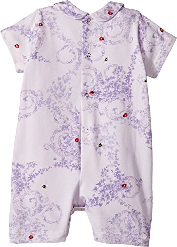 Versace Kids Baby Girl's Barocco Lady Bug Print Collar Romper (Infant) Lilac 6 by Versace (Image #1)