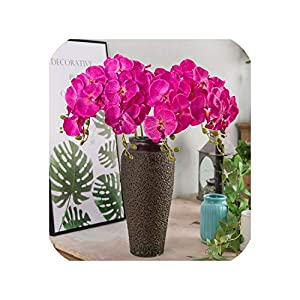 Maja Shop-Artificial Flower Butterfly Orchid Flower Artificial Flower Branch Home Wedding Party Decorative Floral Phalaenopsis 96