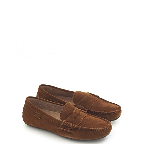 Polo Ralph Lauren - Pantuflas y Mocasines Hombre, Color Marrón, Talla 4: Amazon.es: Zapatos y complementos