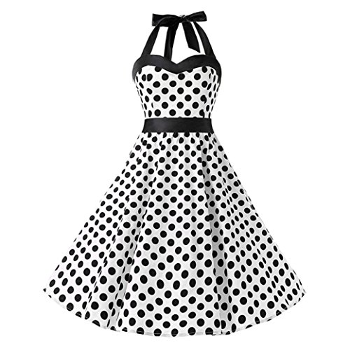 - Women Vintage Dress, Clearance Halter Sleeveless Evening Party Valentine's
